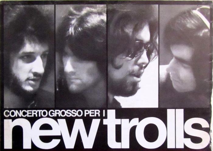 I New Trolls del Concerto Grosso. Da sinistra: Vittorio De Scalzi, Gianni Belleno, Nico Di Palo e Giorgio D'Adamo
